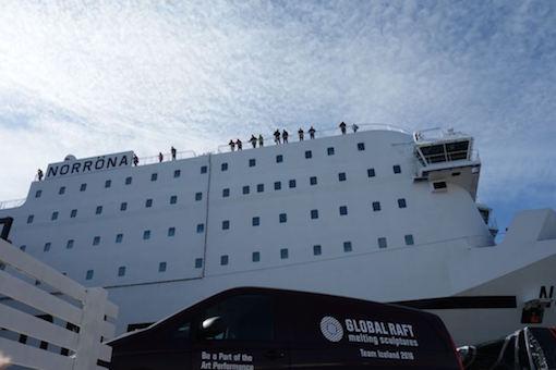 Global Raft - Fähre nach Island