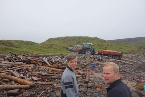 Saving Drift Wood with Oddur and his uncle I